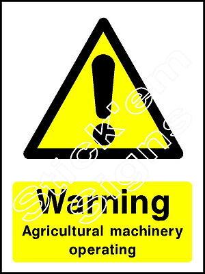 Advertencia de maquinaria agrícola operativo-coun0026 pegatinas y carteles