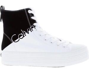 Scarpe taglia Calvin Klein Top da Uk 3 ginnastica White High Zazah Black Jeans WwFCnOwqY