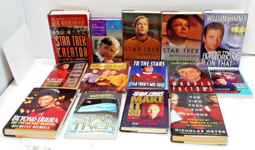 Star Trek Biography Book Collection- Your Choice @ 50+%  Off! (M7302-AP)