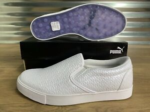 PUMA-2019-Tustin-Slip-On-Women-039-s-Golf-Shoes-SL-PUMA-White-SZ-192247-03-NEW