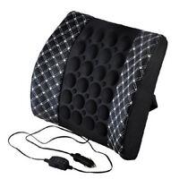 Hot Car Seat Support Dc 12v Charger Massage Lumbar Back Brace Shaking Cushion