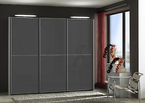 GERMAN MIAMI 250CM SLIDING WARDROBE BEDROOM FITTED FREE BLACK WHITE GREY GLASS - Greater Manchester, United Kingdom - GERMAN MIAMI 250CM SLIDING WARDROBE BEDROOM FITTED FREE BLACK WHITE GREY GLASS - Greater Manchester, United Kingdom