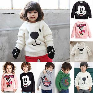 Toddler-Kids-Boys-Girls-Fleece-Top-Hoodie-Sweatshirt-Pullover-Jacket-Coat-Jumper
