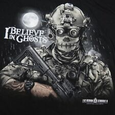 7.62 DESIGN & STRAIGHT 8 I BELIEVE IN GHOSTS MILITARY TEE T SHIRT Sz Mens XL