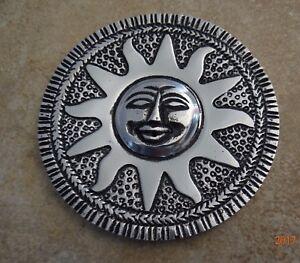 SUN-DISC-DISH-ASHES-TRINKETS-WALL-JEWELRY-VANITY-DESK-4-1-2-034-TIBETAN-CAT-ResQ