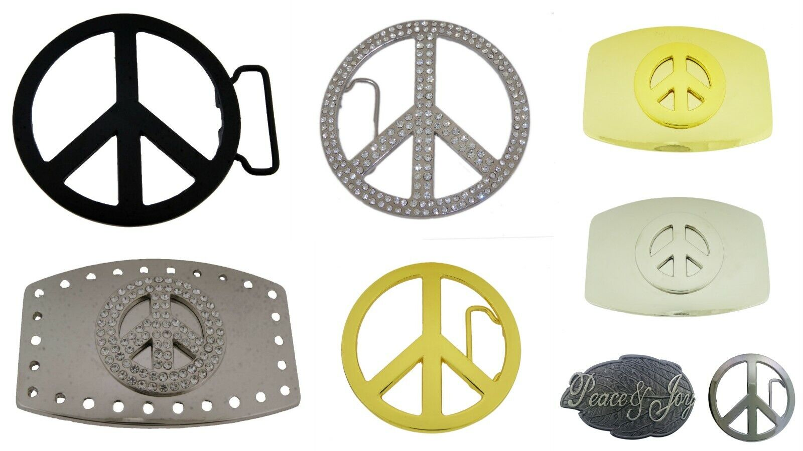 Neu Herren Damen Friedenssymbol Gürtelschnalle Symbol Taube Peace-Lover-Keeper
