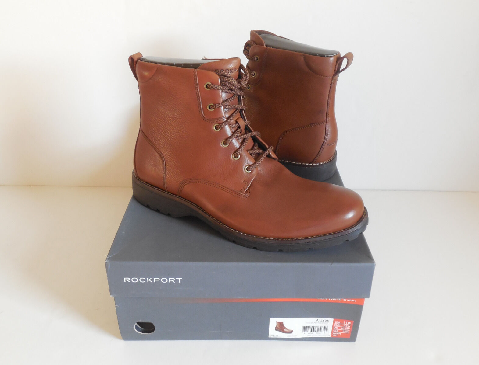 vendita online Rockport A12505 Total Motion Street Plain Toe Lace Up Up Up Uomo stivali Dimensione 11W New  basso prezzo del 40%