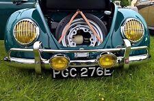 Headlight Grilles TRIPLE CHROME for VW 356 Porsche Volkswagen Bug Bus Split AAC2