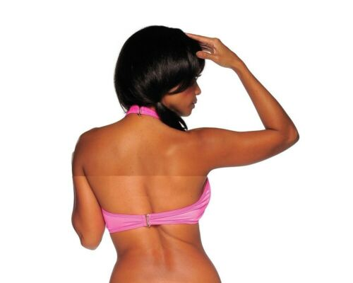 Details about  /BodyZone Apparel Bow Front Halter Top with Buckles 1625SL