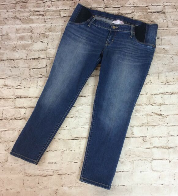 Isabel Maternity Jeans 12 Skinny Cropped Side Panel Stretch Fading 26 Inseam New For Sale Online