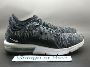 5de82bbdbfb Details about Nike Air Max Sequent 3 Black White Dark Grey Running Shoes GS  922884-001 sz 7Y