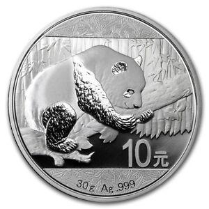 2016 ~ 30~GR.~  PURE .999  SILVER ~ CHINA ~ PANDA  COIN ~ 10~YUAN ~ MINT CAPSULE
