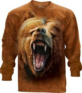 Longsleeve Unisex Mountain Adult Top Growl Grizzly The wFUqZWx
