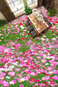 3D Pink Flowers 642 Floor WallPaper Murals Wall Print 5D AJ WALLPAPER UK Lemon