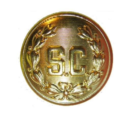 "5 1//2/"" SANTA CLAUS /""SC/""  BELT BUCKLE BRIGHT GOLD   FITS 4/"" BELT"