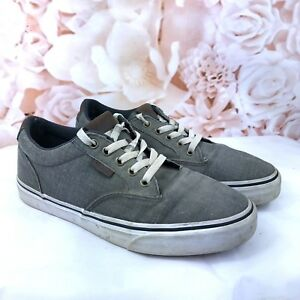 35ddd3a2b2 Vans Winston Ortholite Mens Size 7.5 Gray Skate Shoes Lace Up Brown ...