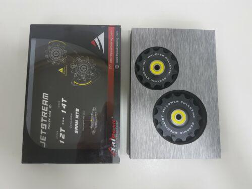 Tripeak 12//14T// 11S Super Ceamic SRAM// MTB Jockey Wheel Black JW1214-SRCBBMTB