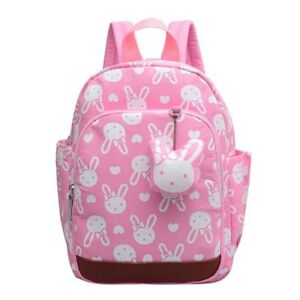 38d396e3e8 Details about Rabbit Cute Kids Children Backpack School Bag for Girls Pink