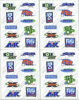 4 Sheets Scrapbook Stickers Extreme Sports Quotes Words Skate Play Hard