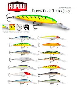 Rapala Down Deep Husky Jerk® Suspending Fishing Lure 10-12cm 11-15g Various Colo