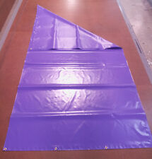 "New Playset Purple 13 oz PVC Tarp with Brass Grommets - 58"" x 120"" - Made in USA"