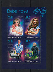 Central-African-Republic-2013-MNH-Birth-Prince-George-Royal-Baby-4v-M-S-William
