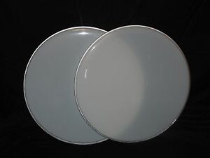 NEW-Pair-16-034-White-Floor-Tom-Drum-Heads-Two-Heads-Included-Cheap-Price