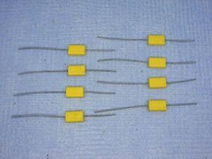QTY-OF-8-VINTAGE-0-047-MFD-47NF-250-V-PHILIPS-CHICKLET-CAPACITORS