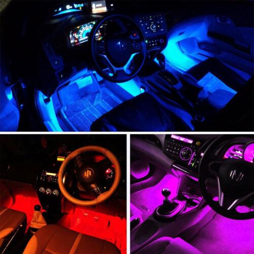 4x 48LED RGB Innenbeleuchtung Fußraumbeleuchtung Leisten Phone APP Control DC12V