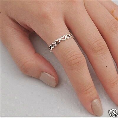 USA Seller Oxidized Infinity Ring Sterling Silver 925 Best Jewelry Selectable