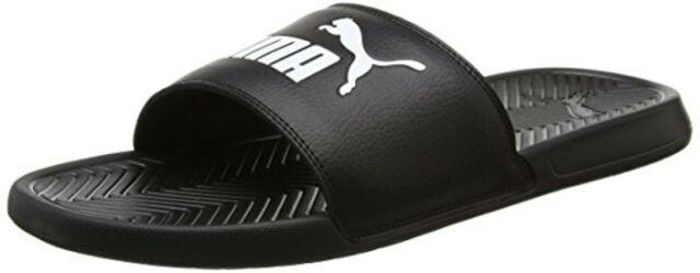 Puma Slide Popcat 360265-10 Black Slippers Men sz 11