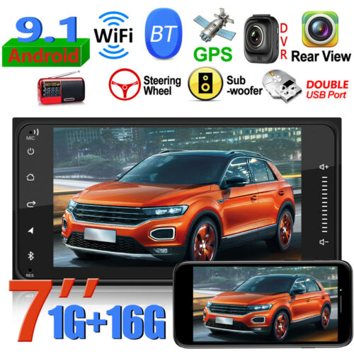 """2Din 7/"""" Android 9.1 Car Estéreo MP5 Reproductor GPS WiFi BT FM Radio para Toyota"""
