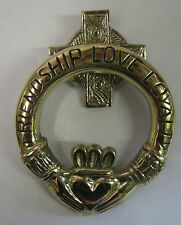 IRELAND HAND CRAFTED BRASS CLADDAGH MEDIUM FRIENDSHIP LOVE LOYALTY DOOR KNOCKER