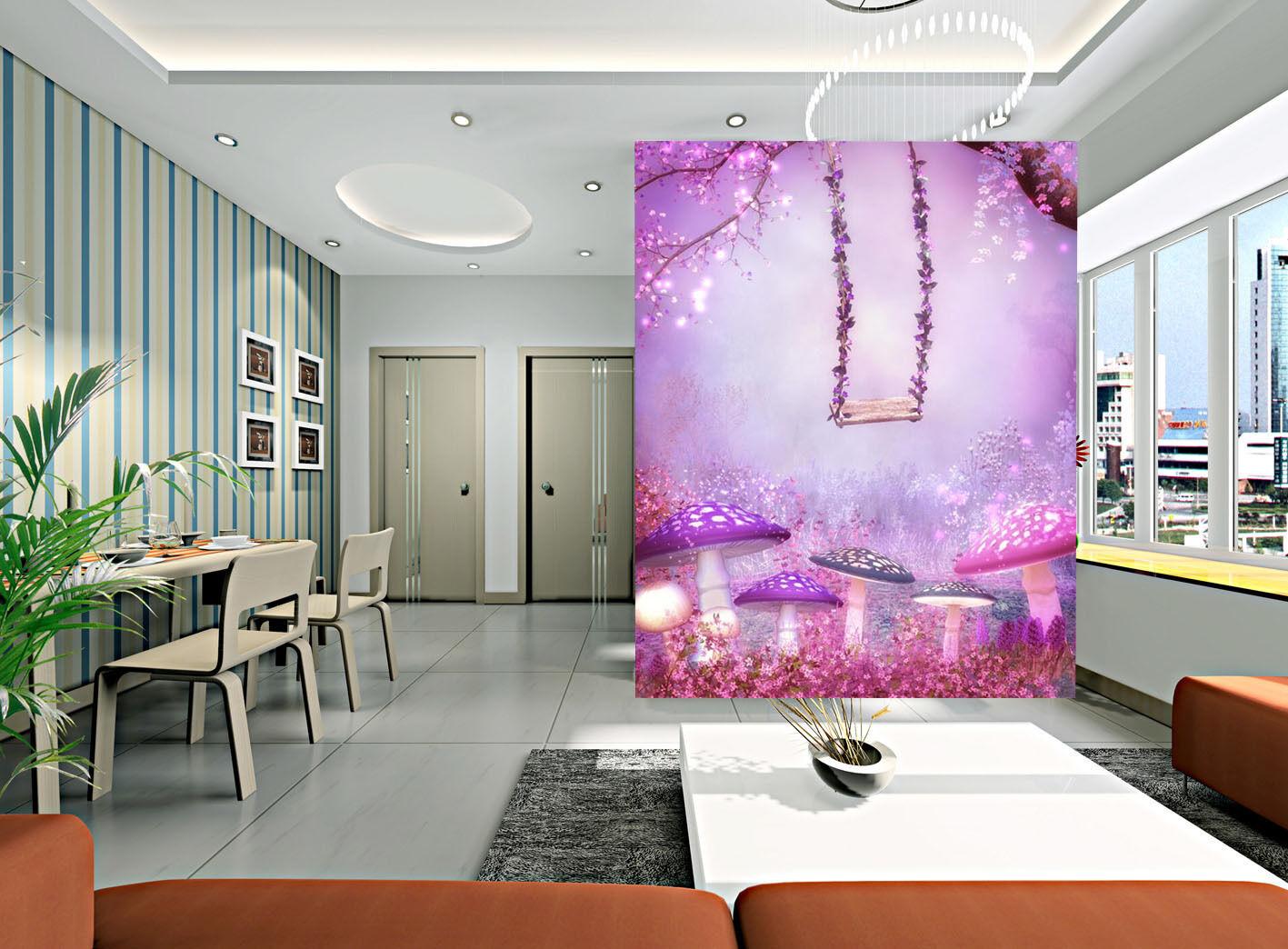 3D Fleur Swing 603 Photo Papier Peint en Autocollant Murale Plafond Chambre Art