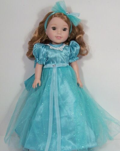 """Debs AQUA Long Dress Evening Prom Gown Doll Clothes For 14/""""  Wellie Wishers"""