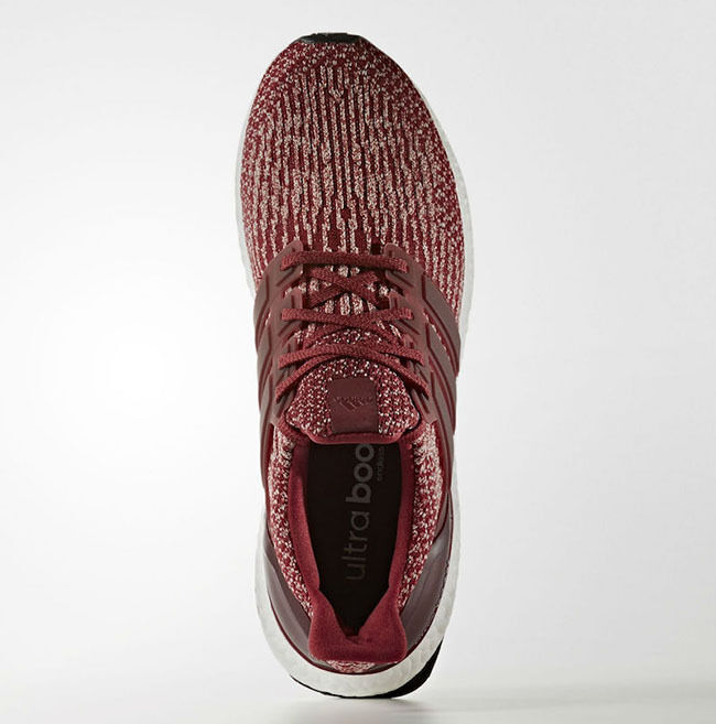 Adidas Ultra Boost 3.0 size 15. Collegiate Red White Burgundy Maroon BA8845