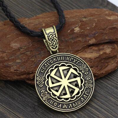 Viking Norse Black Sun Pendant Necklace Slavic Amulet Wheel Fashion Jewelry  | eBay
