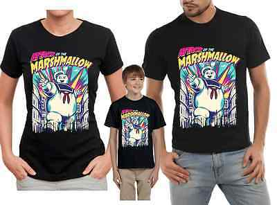 Add Name//Age Stay Puft Marshmallow Man Ghostbusters Custom T-shirt PERSONALIZE