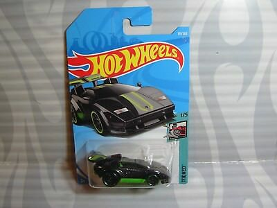 Modellbau 2018 Hot Wheels ''tooned'' #181 =lamborghini Countach= Schwarz & Grün Int