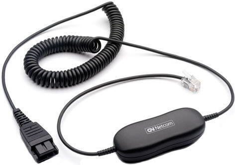 Jabra QD GN1200 88011-99 7-Foot Coiled Smart Cord For Jabra Headsets New