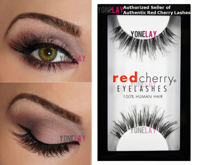 2 Sets Of Genuine Red Cherry 100 Human Hair False Eyelashes Wsp