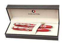 Sheaffer 100 Pattern Gift Collection Gloss Red Fountain & BallPoint Pen Set