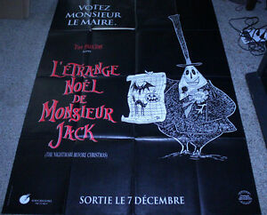 Nightmare Before Christmas In French.Details About Nightmare Before Christmas Original French Grande Advance Movie Poster