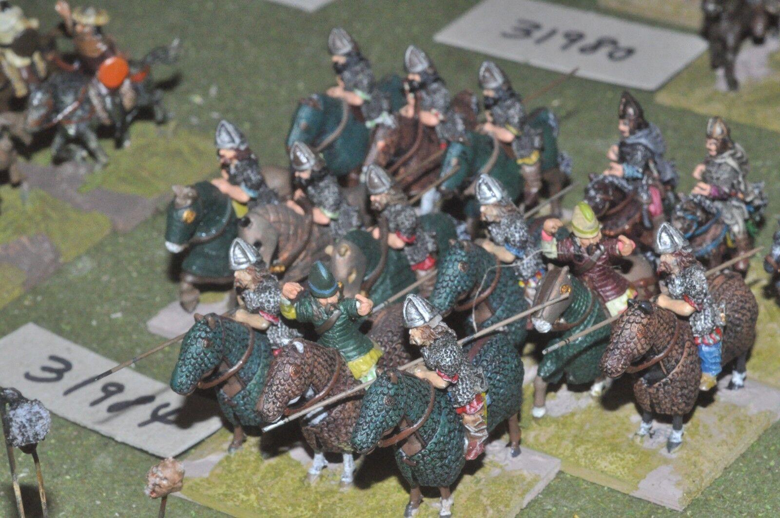 25mm roman era   sarmatian - heavy 15 figures - cav (31984)
