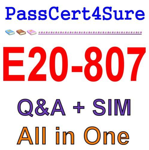 EMC Best Exam Practice Material for E20-807 Exam Q/&A+SIM