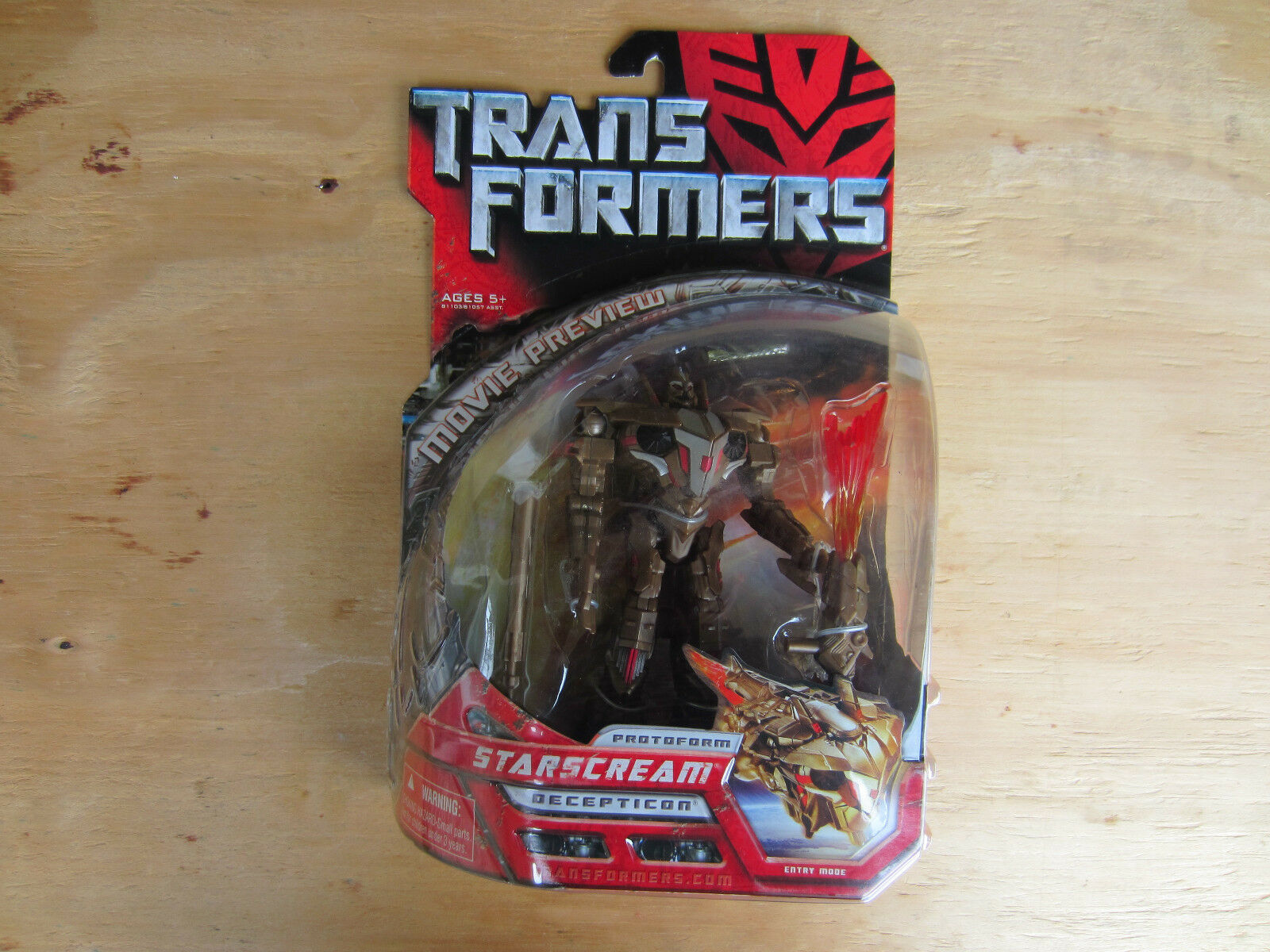 Transformers movie Preview deluxe class Predoform Decepticon Starscream New