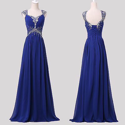 Quinceanera Long Bridesmaid Formal Cocktail Wedding Gowns Evening Prom Dresses