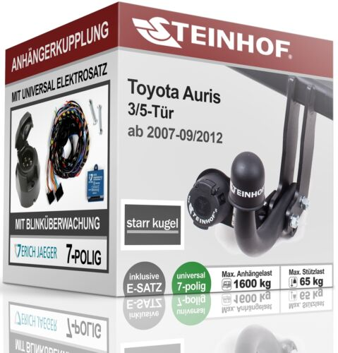 Anhängerkupplung starr Für Toyota AURIS 3//5-Tür 07-12+E-SATZ 7 polig ABE