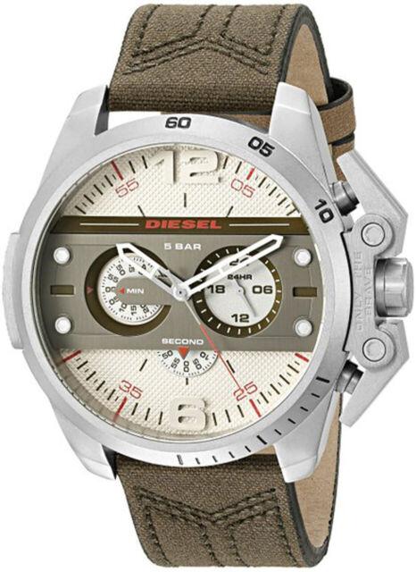 Diesel  Ironside Leather Chronograph Mens Watch DZ4389