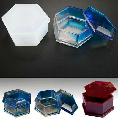 Jewellery Casting Box Mold Mould Storage Making Resin Hexagon Craft DIY Silicone